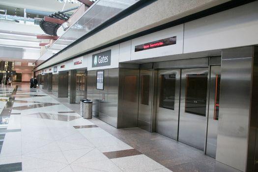 Doors for teminal train at airport