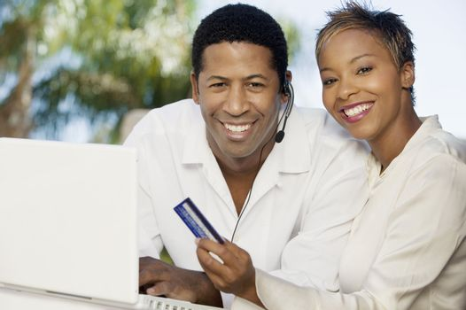Couple Making Online Purchase