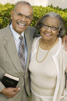 Smiling Senior Christian Couple