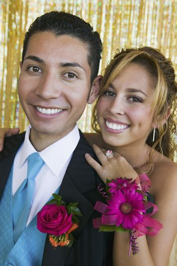 Smiling Prom Couple