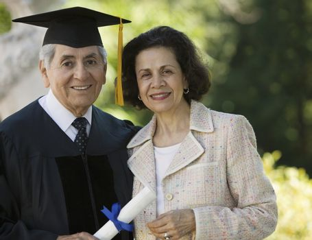 Senior Graduate and Wife