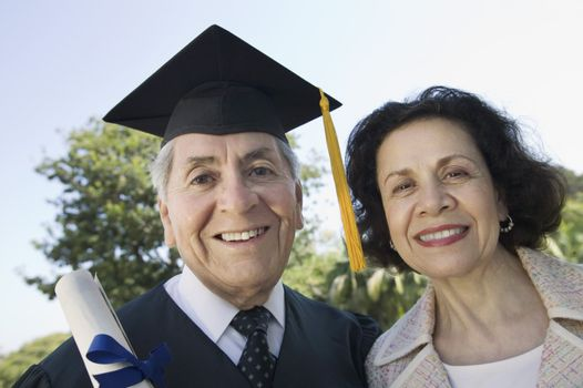 Graduate with Wife