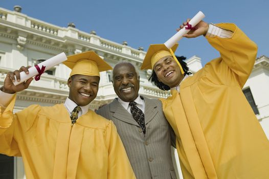 Graduates with Father