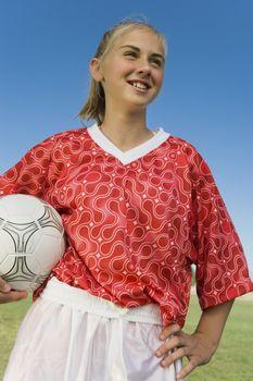 Teenage Soccer Player in Uniform