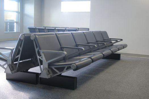 row of seats in transportation terminal