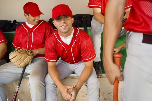 Players in Dugout