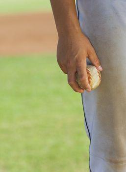 Baseball Pitcher Holding Ball