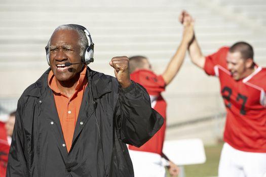 Happy Football Coach