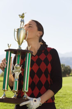 Golf Champion Kissing Trophy