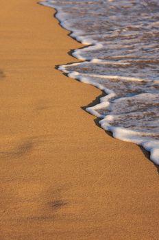 Beach Shoreline in the Early Morning Sun