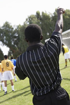 Referee Making a Call