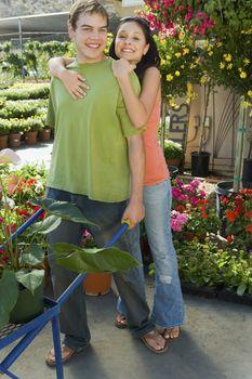 Happy Gardening Couple