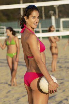 Beach Volleyball Player in Bikini