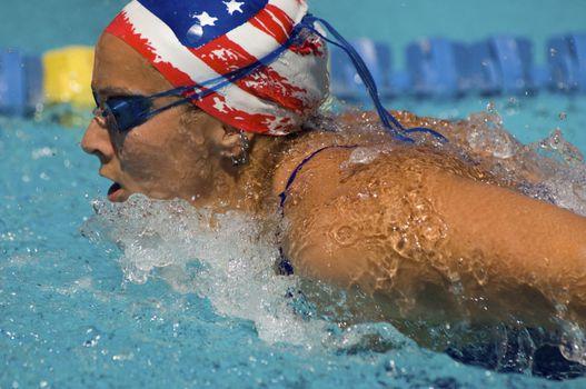 American Woman Swimming