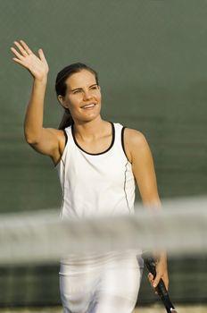 Tennis Player Waving