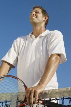 Tennis Player at Net