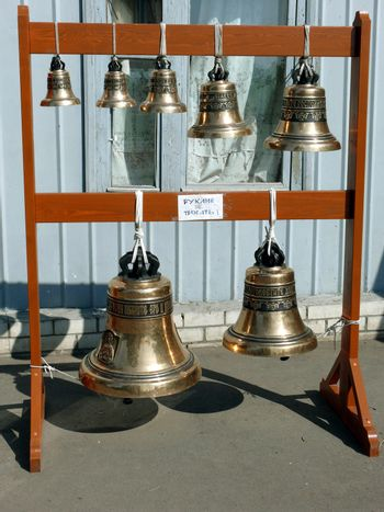 Bells for a under construction belltower. Mamayev a barrow.