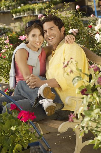 Happy Couple at a Plant Nursery