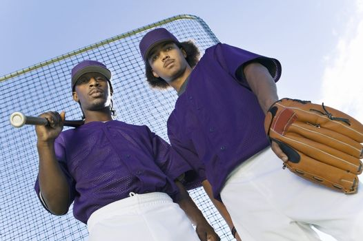 Baseball Players in Uniform Before Game