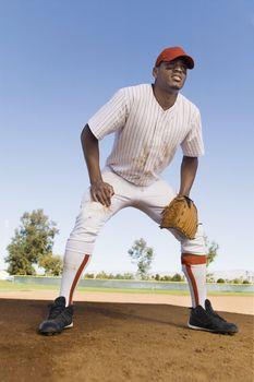 Baseball Infielder Ready for Action