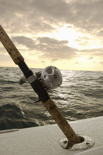 Fishing Pole in Holder