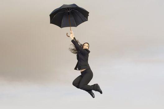 Falling Woman with Umbrella