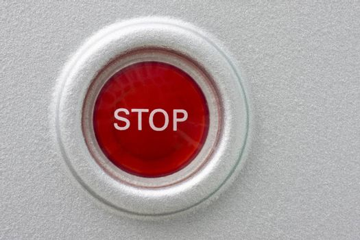 Round red stop button
