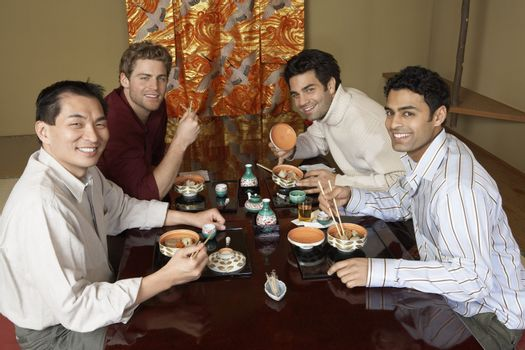 Friends Dining Out Together