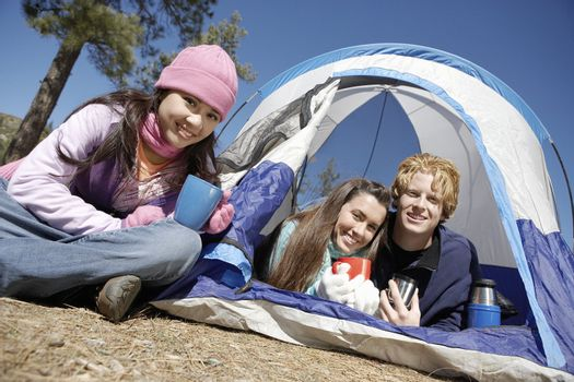 Friends on Camping Trip Together
