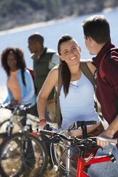 Young Adults Mountain Biking