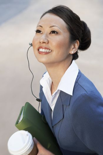 Businesswoman Looking Up