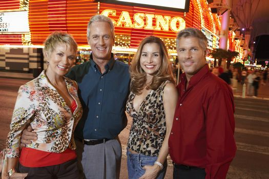 Two Couples on Vacation at Las Vegas