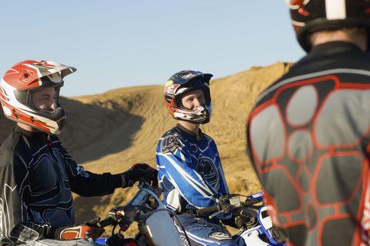 Motocross Racers Talking