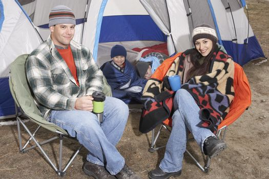 Group of Friends on Camping Trip