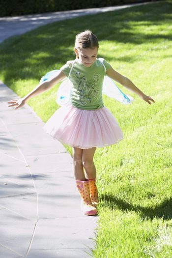Young Girl Playing Outside