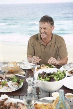 Man Eating Dinner