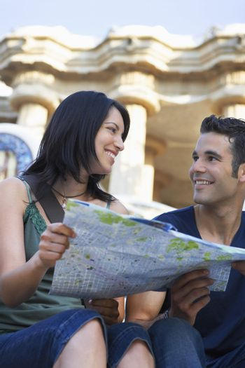 Couple Sharing a Map