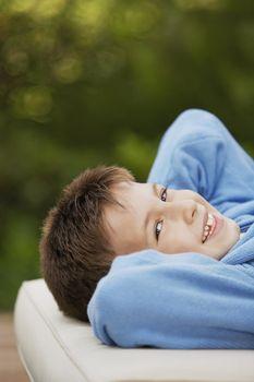 Little Boy Lying Down
