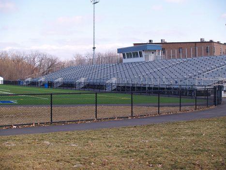 an empty outdoor football stadium