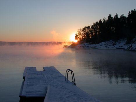 misty morning in Asker kommune, Norway