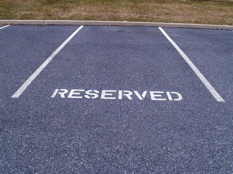 a reserved parking spot