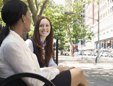 women talking outdoor
