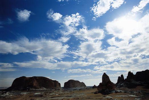 Rocks under Sky