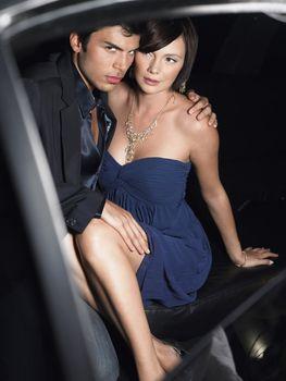 Famous Couple Inside Limousine