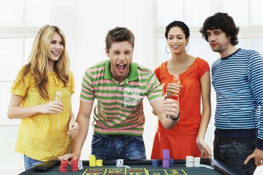 Friends Gambling