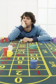 Young Man Gambling
