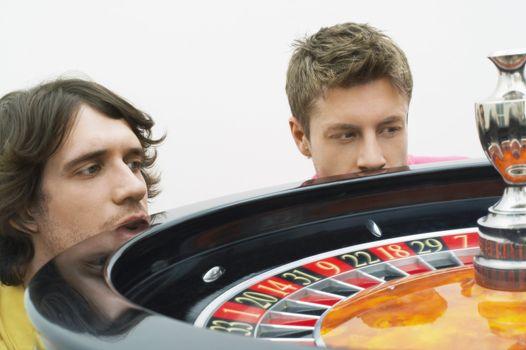 Young Men Gambling