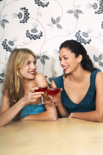 Friends Drinking Martinis