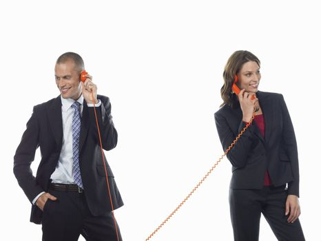 Businesspeople on the Phone
