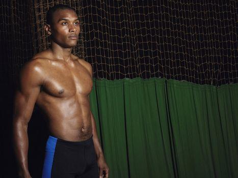 Muscular African American Man